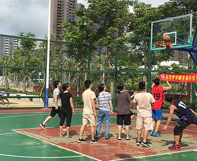 篮球赛合影